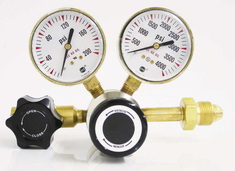 Brass 1-Stage Gas Regulator