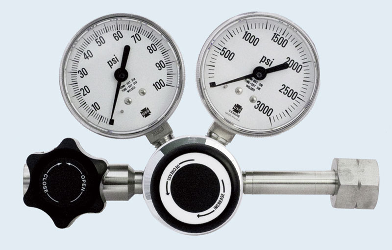Stainless Steel 1-Stage Gas Regulator